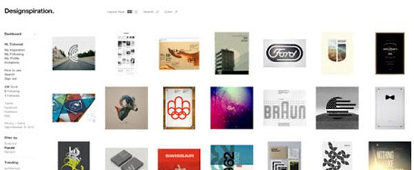 Designspiration site onde se inspirar